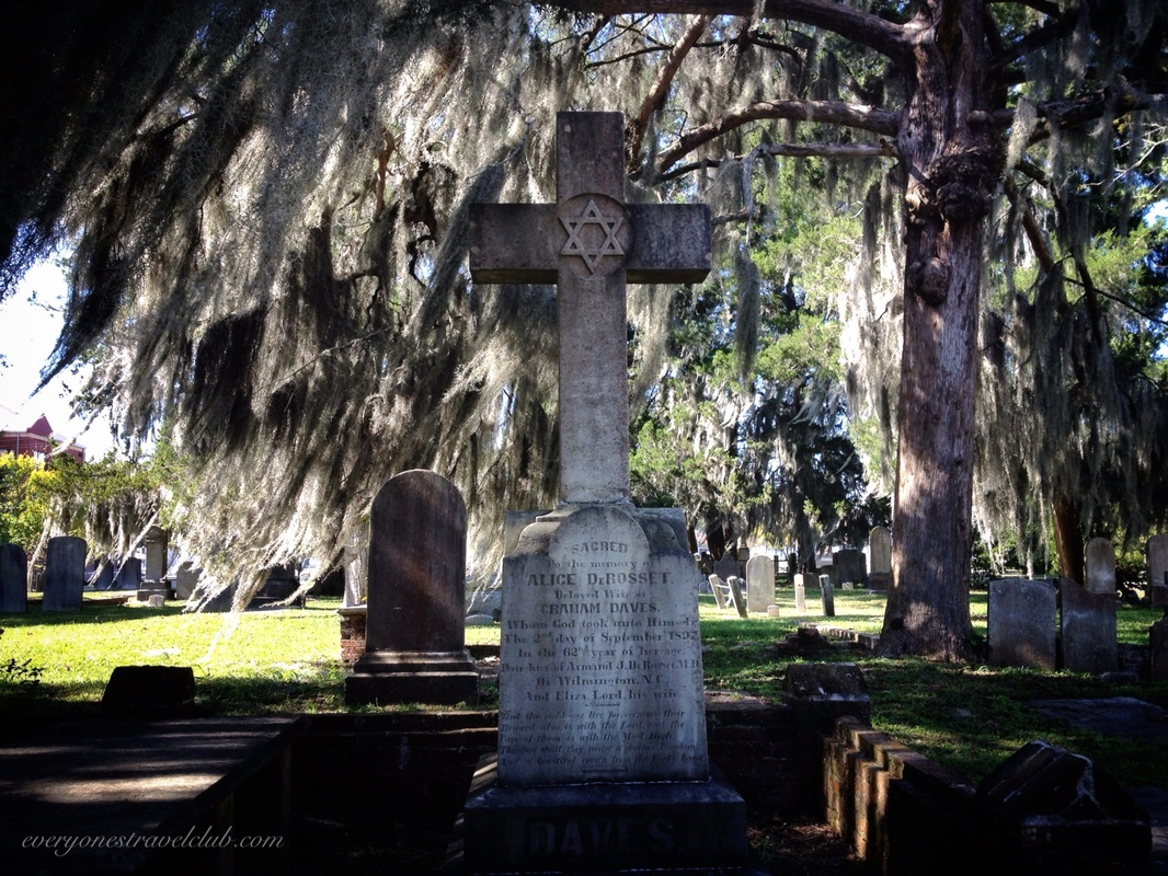 A tombstone in New Bern's Cedar Grove Cemetary