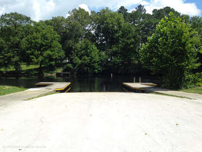 A view of the Trent River boat launch in NC.