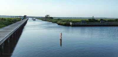 Emerald Isle boat launch view out to the Intracoastal waterway