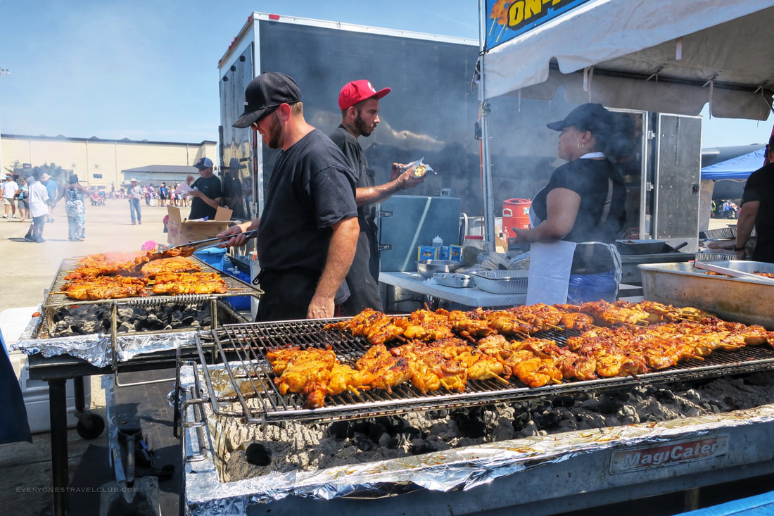 A view of some of the food vendors at the 2017 air show in Goldsboro, NC