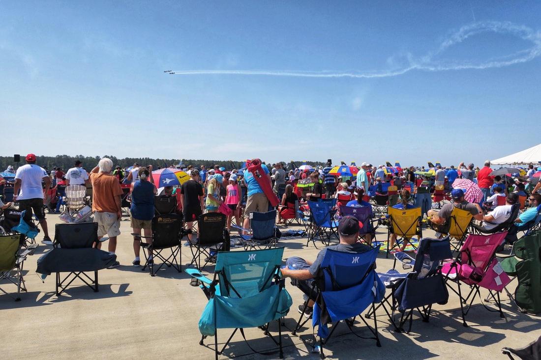 Watching the 2017 Wings over Wayne air show at Seymour Johnson Air Force Base in Goldsboro, NC