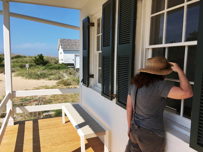 Looking inside historic lighthouse buildings at Cape Lookout