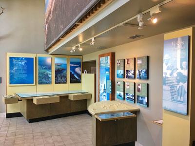 Inside the Harkers Island Visitor Center for Cape Lookout, NC