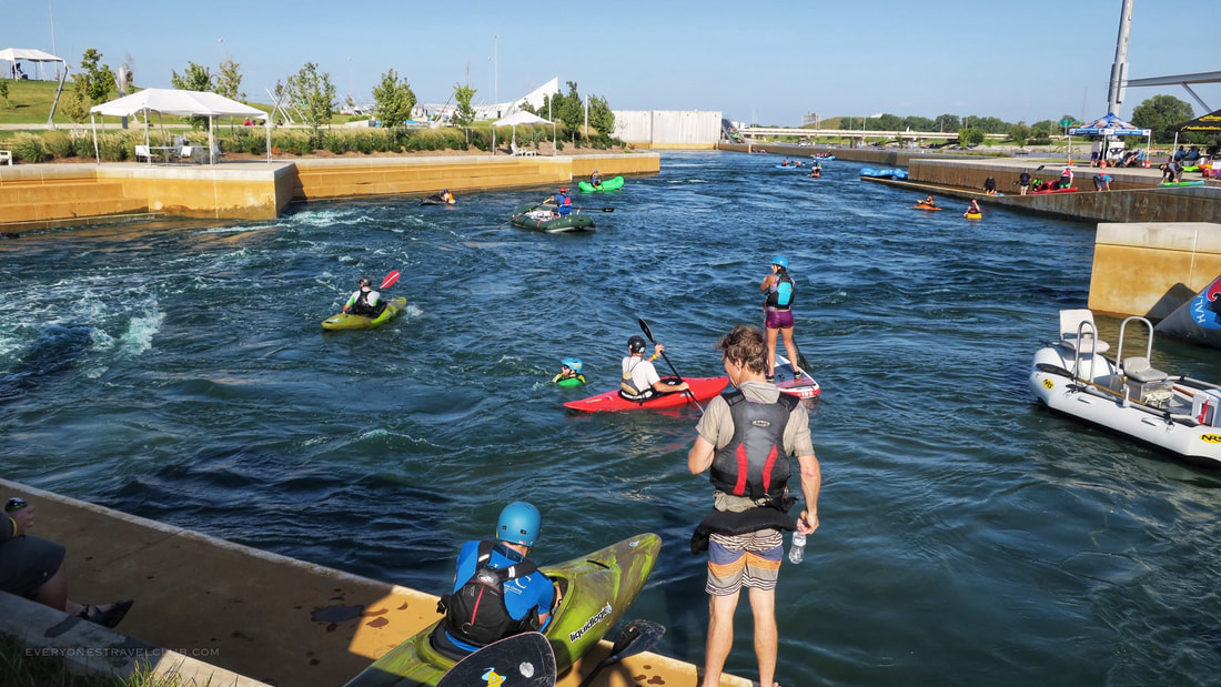 Whitewater testing at demo day during the Paddlesports Retailer Show in Oklahoma City, OK