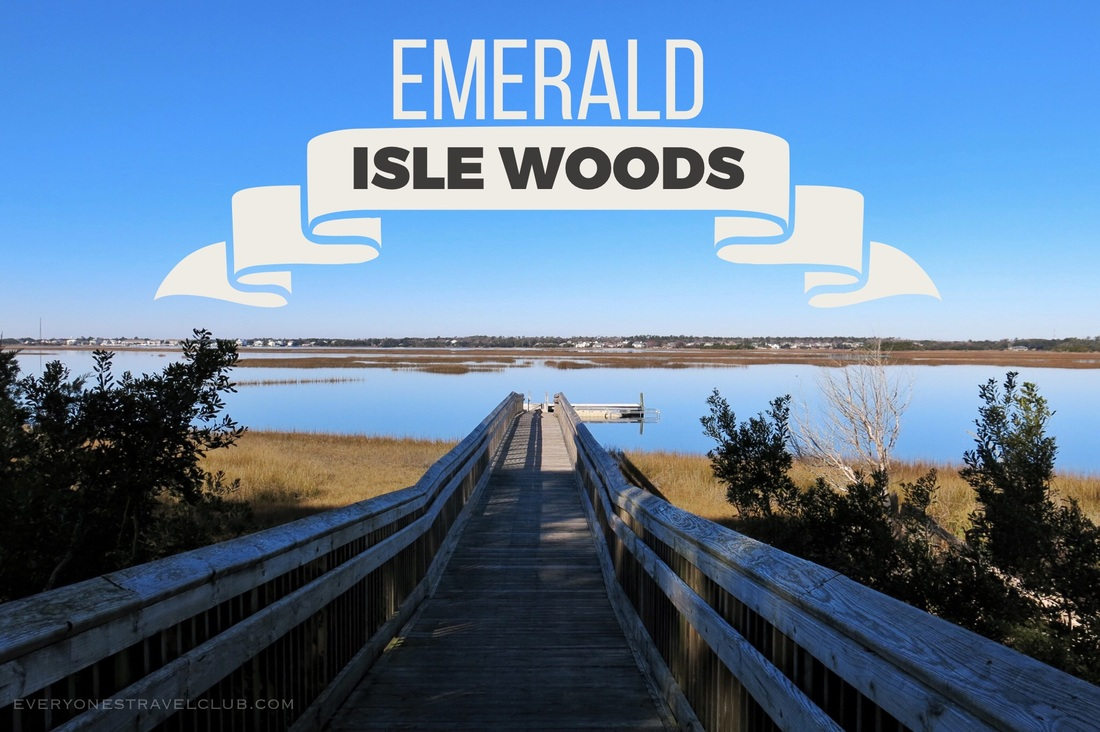 Hiking at the Emerald Isle Woods trail in North Carolina