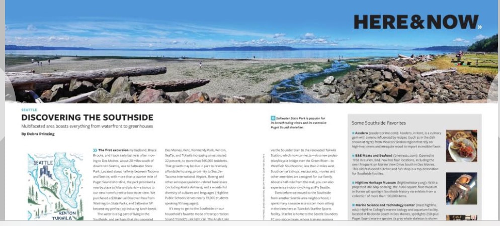 Alaska Airlines Beyond Magazine article on Discovering the Pacific Northwest's Southside.