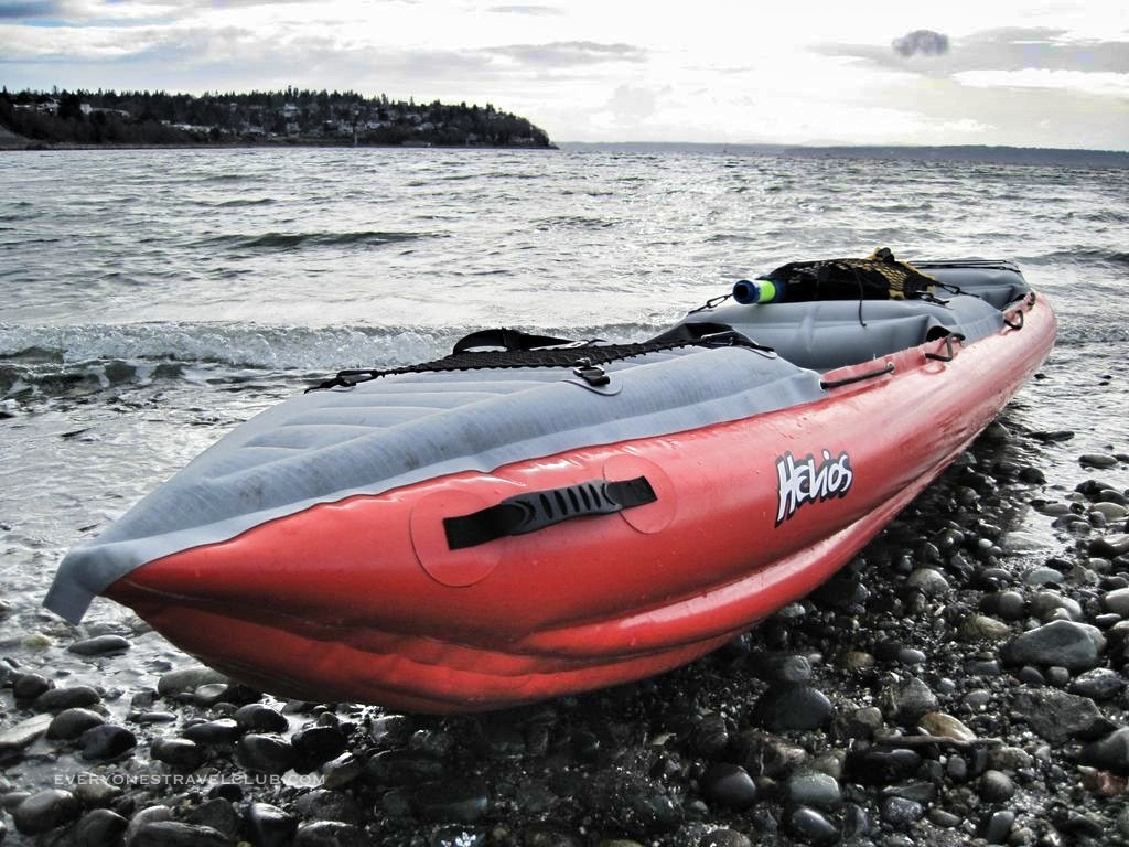 The Helios 2 beached on Lake Washington in Seattle