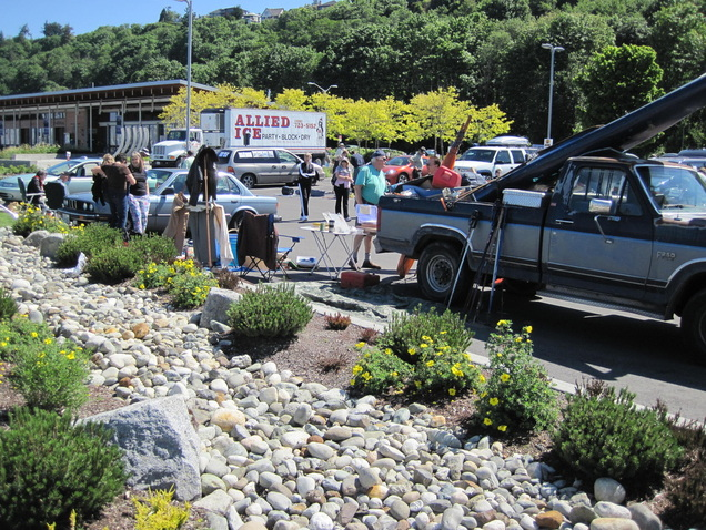 A look at the swap meet at the annual Shilshole open house and swap meet.