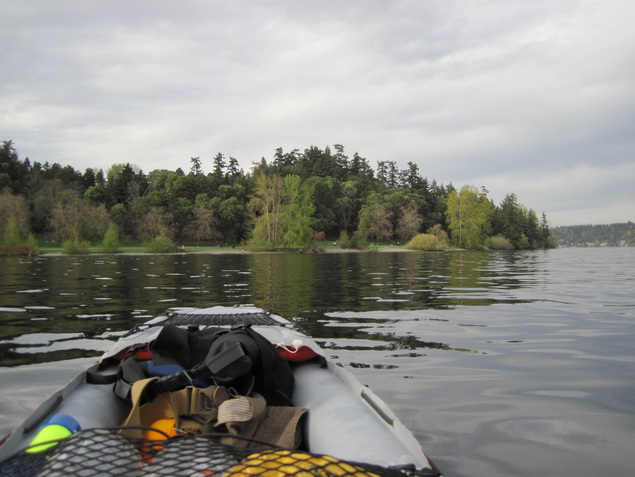 Arriving at Seward Park, kayaking from the south