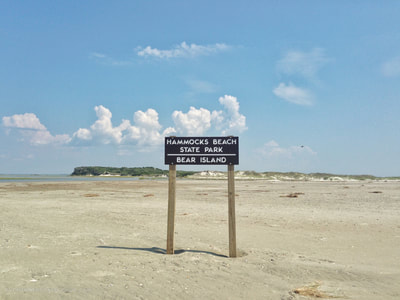 The sign at the end of Bear Island