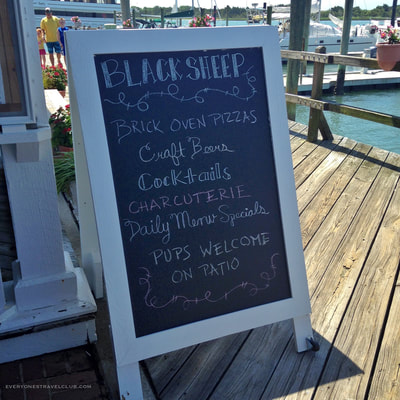 Great pizza on the Beaufort waterfront brought to you by Black Sheep restaurant.