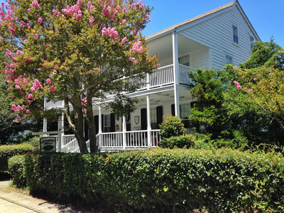 Historic Inns and houses along the Crystal Coast in Beaufort, North Carolina