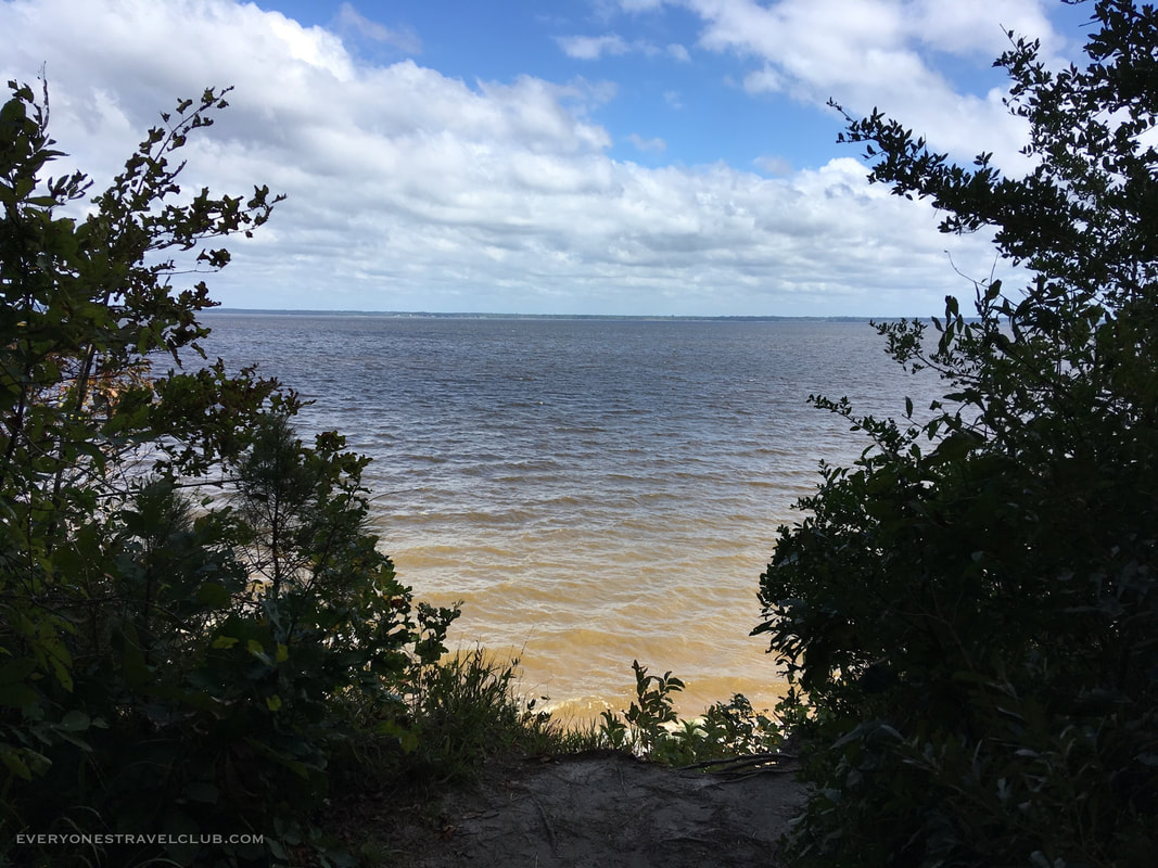 A view of the Neuse River from the trails at Flanners Beach, North Carolina