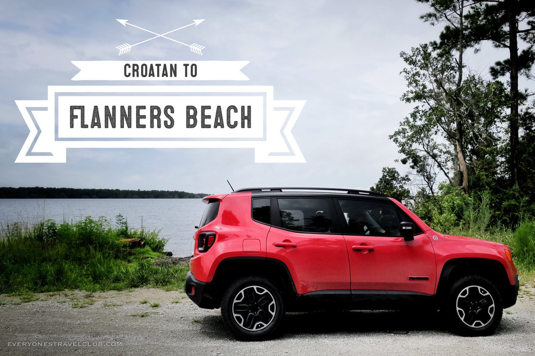 Driving our new Jeep Renegade 4x4 through Croatan National Forest to Flanners Beach, North Carolina