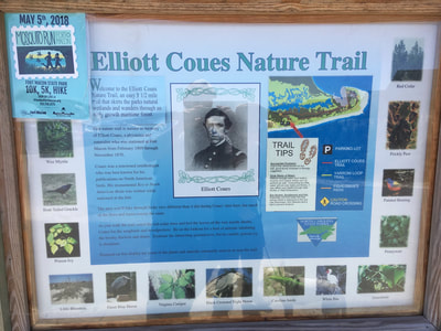 Information about the Elliott Coues Nature Trail, as posted on the trail sign