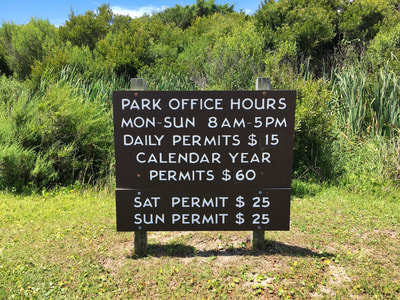 Park office hours for the 4x4 beach at Fort Fisher Recreation Area
