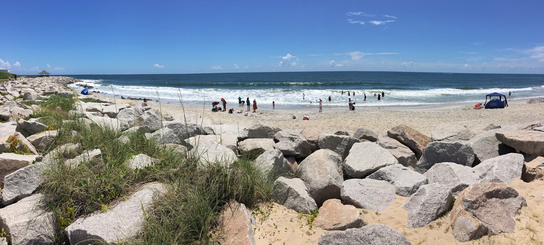 A great East Coast beach day at Fort Fisher