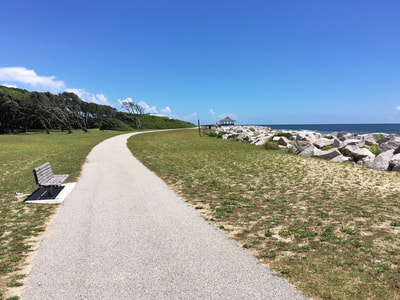 The beachside trail at Fort Fisher State Park