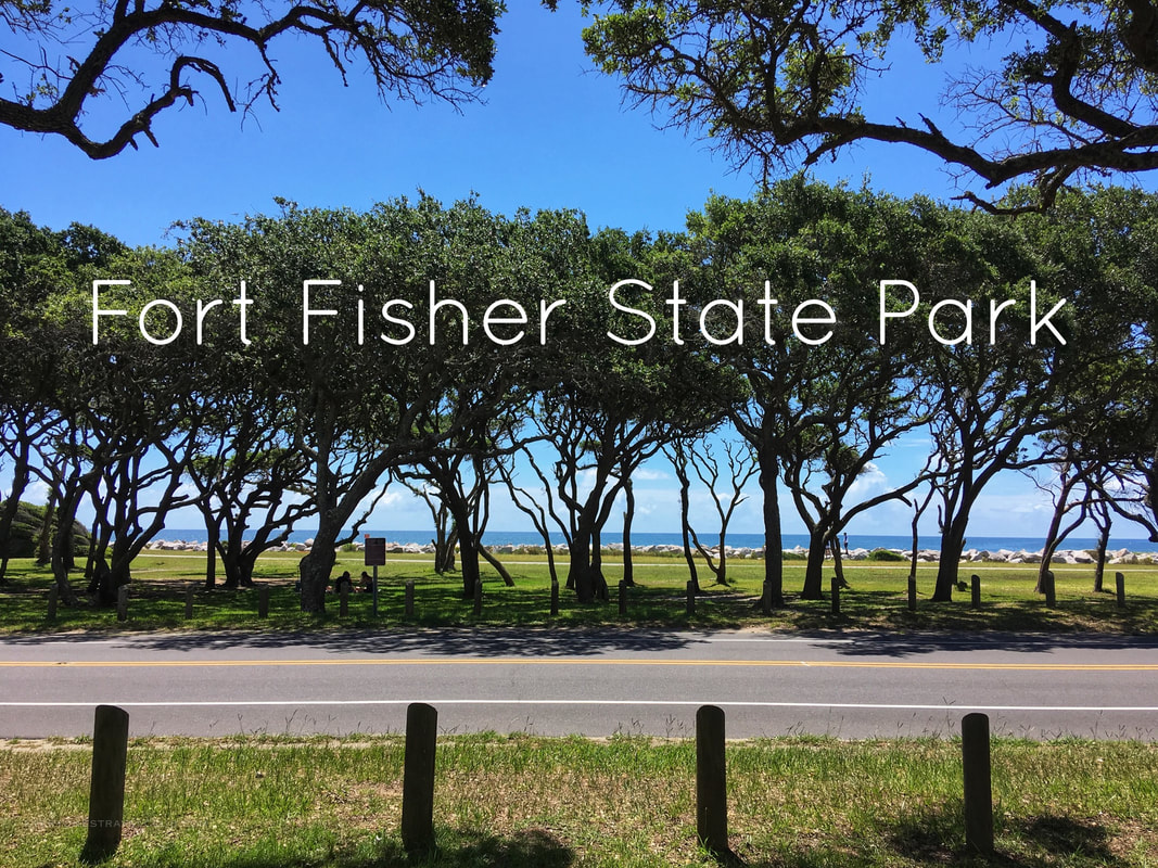 Exploring and hiking around Fort Fisher State Park and Recreation Area in North Carolina
