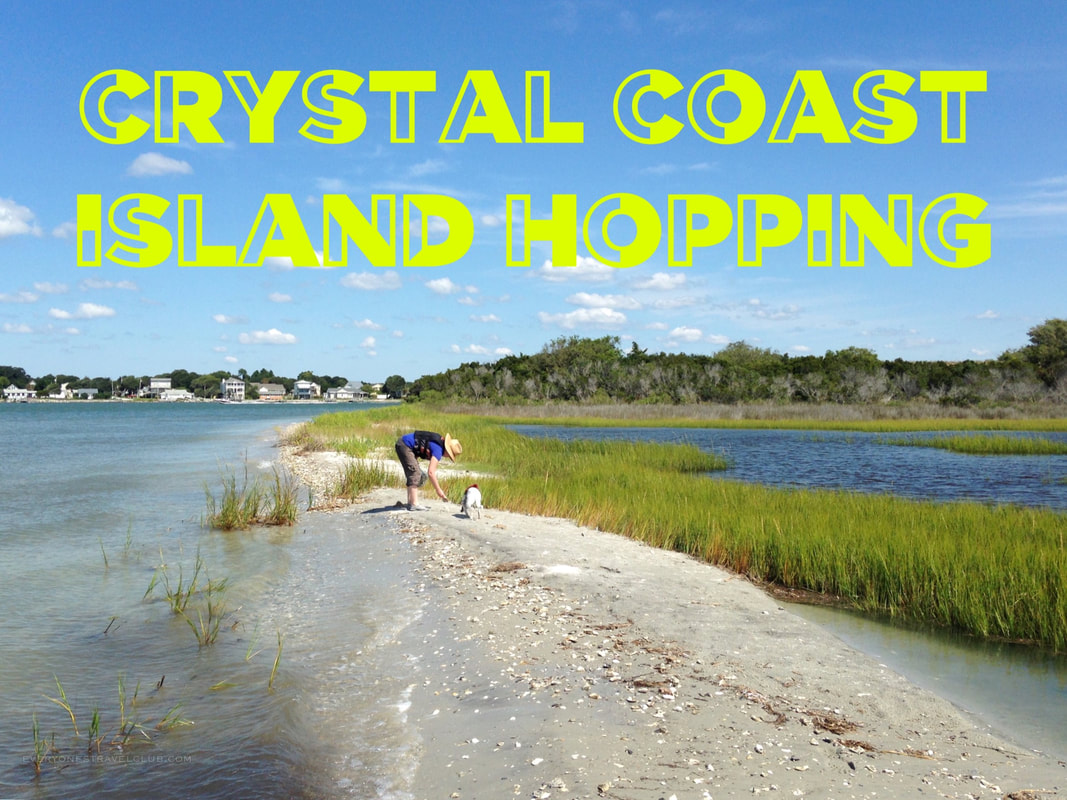 Shelling and island hopping via kayak to barrier islands along the Crystal Coast