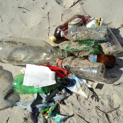 #Oceanplastic on a paddle route along the Crystal Coast in North Carolina