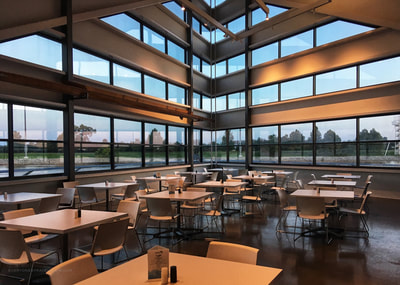 Inside the Riversport Rapids dining/restaurant building