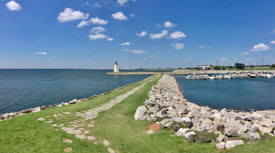 Lighthouse on Lake Hefner near Oklahoma City, OK