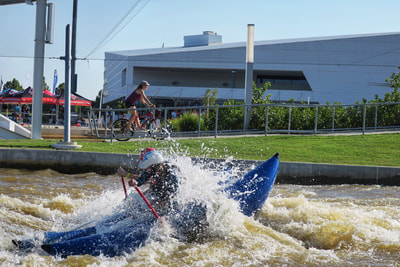 Whitewater, bikes, and bars at the Paddlesports retailer in Oklahoma City