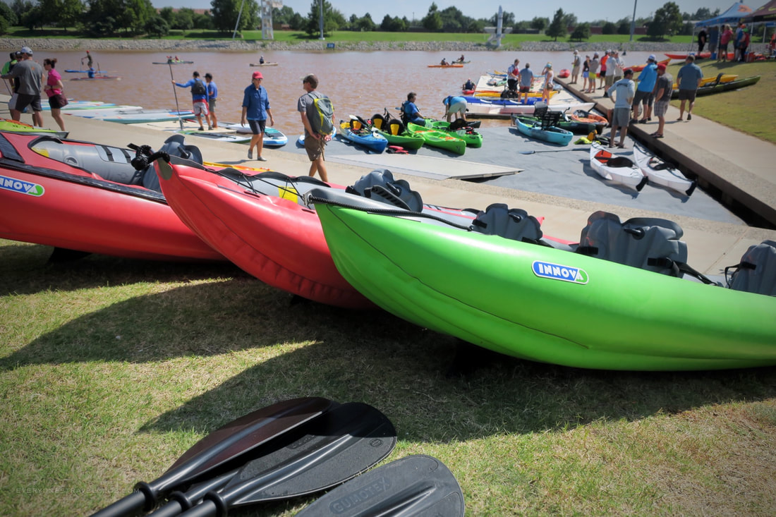 Innova Kayak at demo day at the 2018 Paddlesports Retailer Show