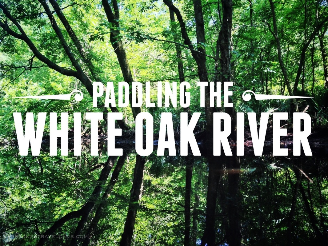 Paddling the White Oak River from Maysville to Long Point, North Carolina.
