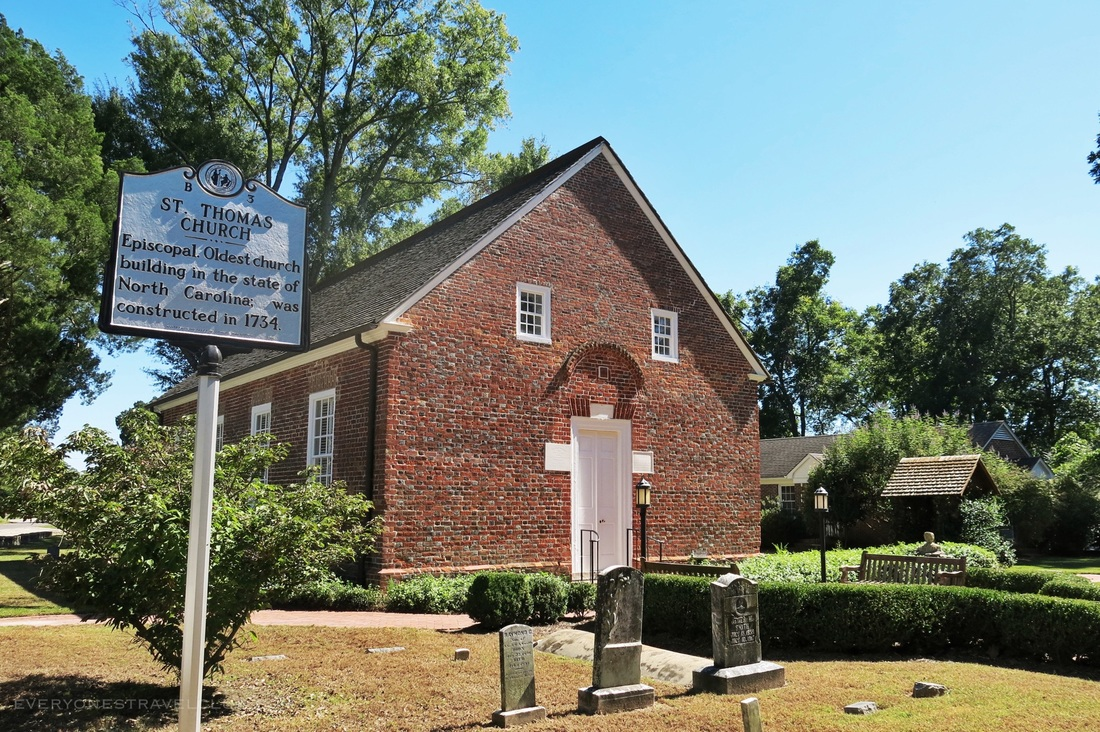 North Carolina's oldest church building, St. Thomas church in Bath, NC