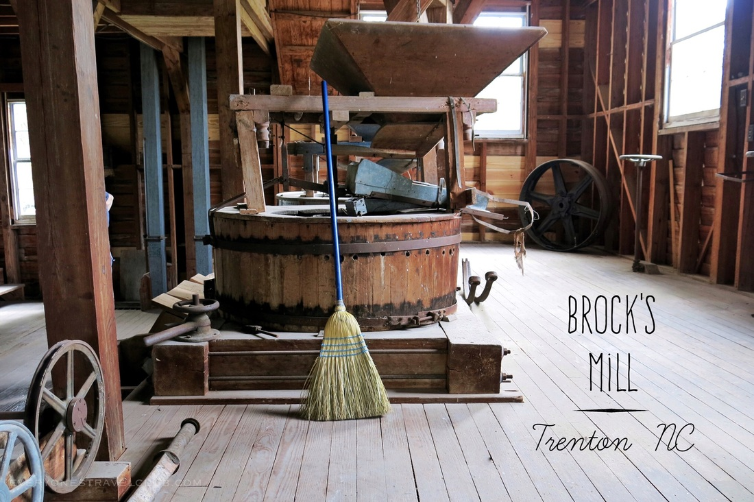 Inisde Brock's Mill in Trenton, North Carolina