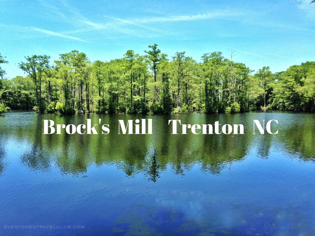 Paddling Brock's Mill in Trenton North Carolina