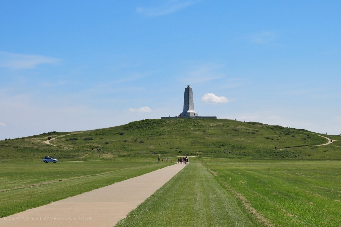 View of the Wright Brothers Memorial in Kill Devil Hills, North Carolina